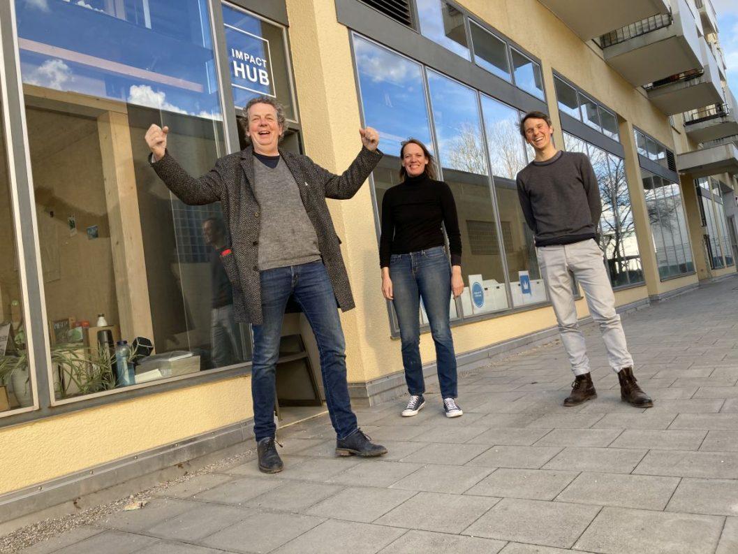 Hatten die zündende Idee (v.l.): Gründer Karl Schweisfurth, Kristin Mansmann und Quentin Orain